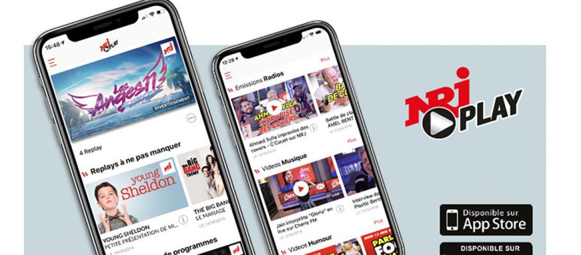 La marque NRJ lance son application télé-radio live & replay
